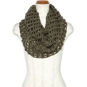 Olive Infinity Scarf Women Loop Knit Soft Wrap NWT